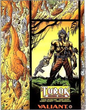 Turok - Valiant's Turok: Dinosaur Hunter. Art by Bart Sears.