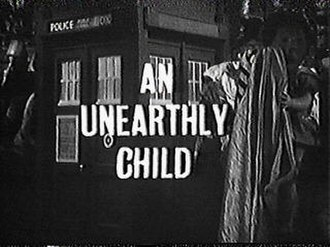An Unearthly Child - The title screen of the first episode of Doctor Who