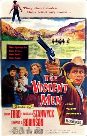The Violent Men - Theatrical release poster