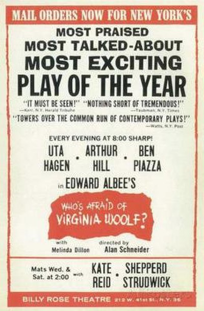 Picture of a book: Who's Afraid Of Virginia Woolf?