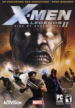 X-Men Legends II: Rise of Apocalypse - North American Windows cover art