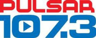 XHFG-FM - Image: XHFG PULSAR107.3 logo