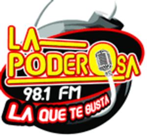 XHWX-FM - Image: XHWX La Poderosa 98.1 logo