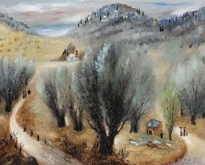 Reuven Rubin - Image: 'Galilean Hills', oil on canvas painting by Reuven Rubin