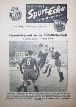 1950–51 DDR-Oberliga championship play-off - Image: 1950–51 DDR Oberliga championship play off programme