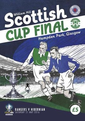 2016 Scottish Cup Final - Official programme cover