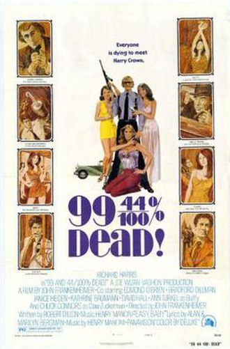 99 and 44/100% Dead - Theatrical release poster
