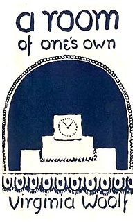 <i>A Room of Ones Own</i> book by Virginia Woolf