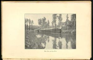 Cruising (maritime) - 'Canal barges in Belgium', an image from Robert Louis Stevenson's book, An Inland Voyage.