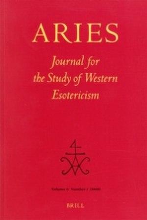 Aries (journal) - Image: Aries Journal