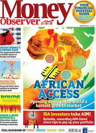 Money Observer - August 2013 issue of Money Observer magazine, published in London, UK