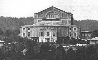 Bayreuth Festival - Bayreuth Festspielhaus, as seen in 1882