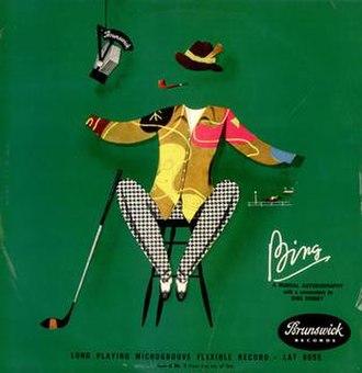 Bing: A Musical Autobiography - Image: Bingmusicbio