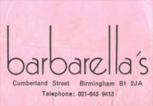 Barbarella's - Birmingam Barbarella's logo