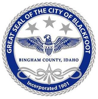 Blackfoot, Idaho - Image: Blackfoot Idaho city seal