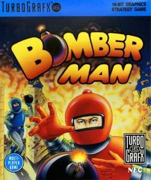 Bomberman (1990 video game) - North American cover art