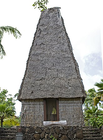 Religion in Fiji - A bure kalou, a pre-Christian Fijian religious building
