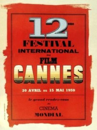 1959 Cannes Film Festival - Official poster of the 12th Cannes Film Festival, an original illustration by Jouineau Bourduge.