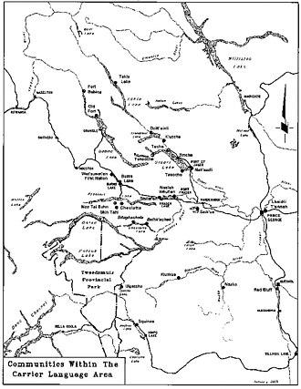 Dakelh - Communities living within the Dakelh language area