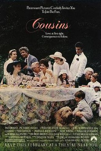 Cousins (1989 film) - Theatrical release poster
