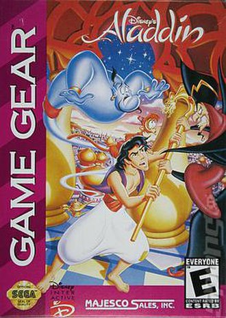 Disney's Aladdin (1994 video game) - Cover art for the North American Sega Game Gear version