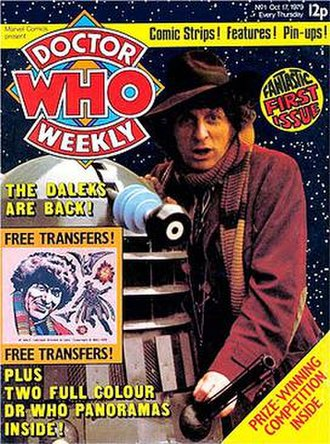 Dalek comic strips, illustrated annuals and graphic novels - Front cover - Doctor Who Weekly No. 1.
