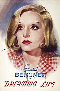 <i>Dreaming Lips</i> (1937 film) 1937 film by Paul Czinner, Lee Garmes
