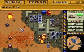 Dune II - The Dune II interface was the template for subsequent RTS designs