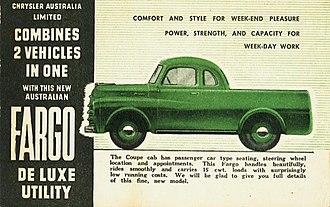 Fargo Trucks - Australian Fargo De Luxe Utility
