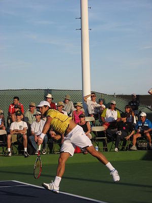 Fernando Verdasco - Verdasco serving against Seppi in Indian Wells 2007