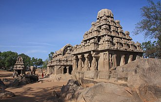 Architecture of Tamil Nadu - The Rathas in Mahabalipuram-Tamil Nadu