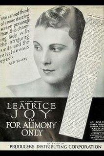 <i>For Alimony Only</i> 1926 film