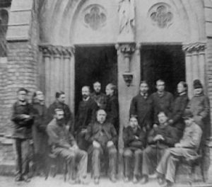 Oxford University Newman Society - The founders of the Catholic Club, 1878; second-from-right, Gerard Manley Hopkins