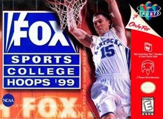 Fox Sports College Hoops '99 - North American Nintendo 64 cover art