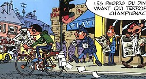 Gaston's first Spirou et Fantasio appearance