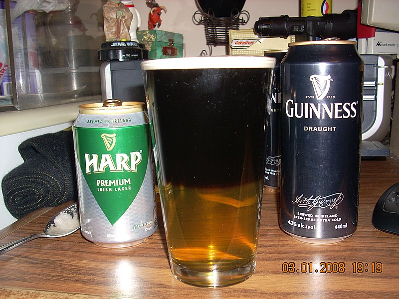 Harp and Guinness