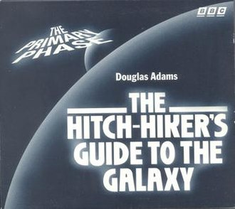 """The Hitchhiker's Guide to the Galaxy Primary and Secondary Phases - The front cover of the 1996 CD release of """"The Primary Phase"""", one of the first BBC CD releases."""