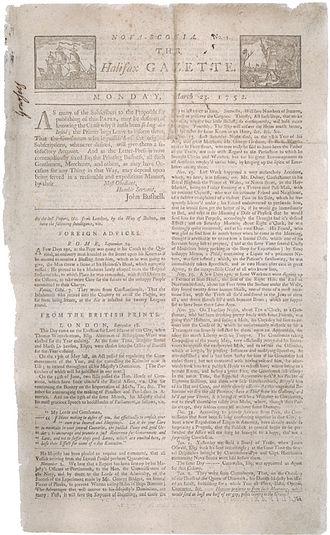 Halifax Gazette - Halifax Gazette, No. 1