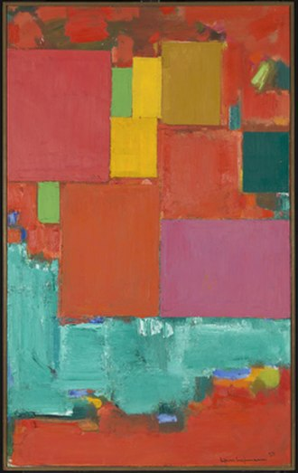 "Hans Hofmann - Hans Hofmann, Pompeii, oil on canvas, 84.25"" x 52.25"", 1959."