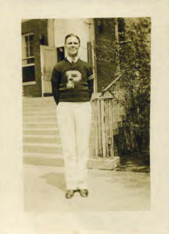 "Bruce Henderson - Henderson in his ""red PDS sweater"", ca 1930"