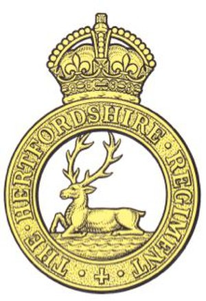 Hertfordshire Regiment - Image: Hertfordshire Regiment Capbadge