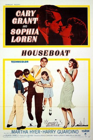 Houseboat (film) - Film poster for Houseboat