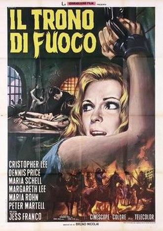 The Bloody Judge (film) - Image: Il trono di fuoco italian movie poster md
