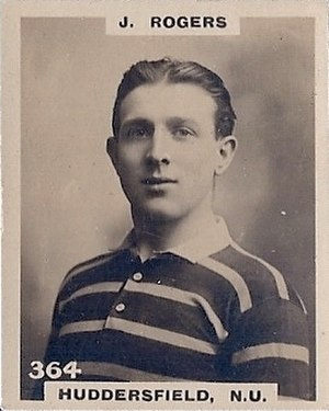 Johnny Rogers (rugby) - Godfrey Phillips Cigarette card featuring Rogers