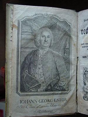 Johann Georg Estor - Johann Georg Estor