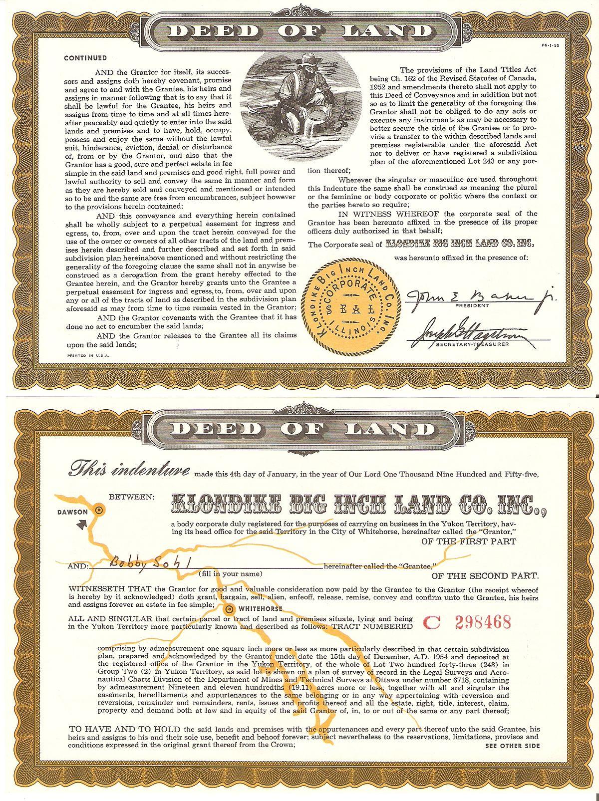 Klondike Big Inch Land Promotion - Wikipedia