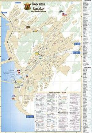 Korsakov (town) - Map of Korsakov