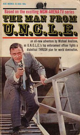 The Man from U.N.C.L.E. - The first Man from U.N.C.L.E. novel, by Michael Avallone. Pictured: Robert Vaughn.