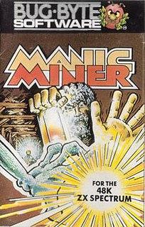 <i>Manic Miner</i> platform game by Bug-Byte