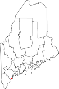 Location in the state of Maine